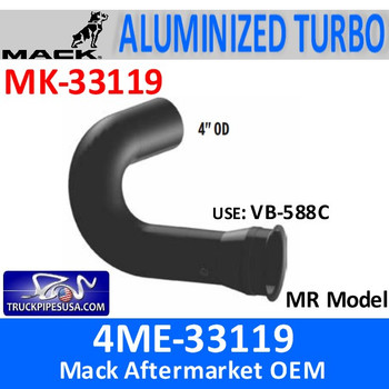MK-33119 4ME-33119 Mack MR Model Turbo Exhaust Part MK-33119