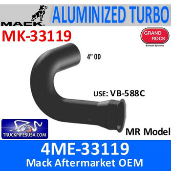 4ME-33119 Mack MR Model Turbo Exhaust Part MK-33119