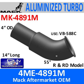 MK-4891M 4ME-4891M Mack DM & R & RD Model Turbo Exhaust MK-4891M