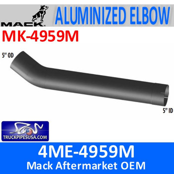 "MK-4959M 4ME-4959M Mack 5"" Exhaust Elbow Pipe MK-4959M"