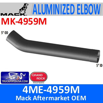 "4ME-4959M Mack 5"" Exhaust Elbow Pipe MK-4959M"