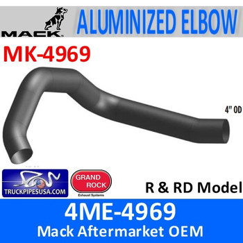 "4ME-4969 Mack 4"" OD Exhaust Elbow R & RD Model MK-4969"