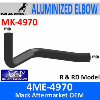 "4ME-4970 Mack R & RD Model 4"" Exhaust Elbow MK-4970"