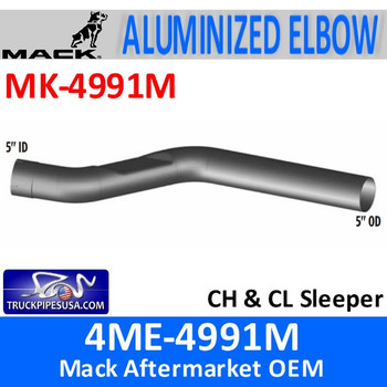 MK-4991M 4ME-4991M Mack CH & CL Sleeper Exhaust Part MK-4991M