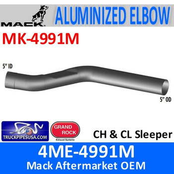4ME-4991M Mack CH & CL Sleeper Exhaust Part MK-4991M