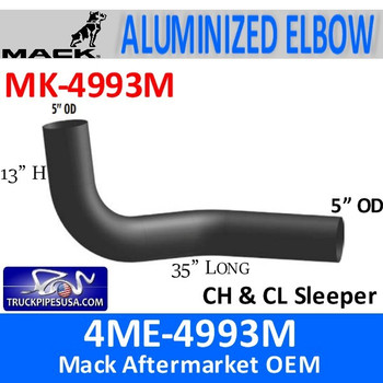 MK-4993M 4ME-4993M Mack CH & CL Sleeper Exhaust Elbow MK-4993M