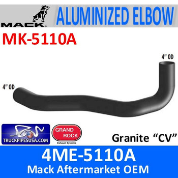 4ME-5110A Mack Granite CV Aluminized Exhaust Elbow MK-5110A