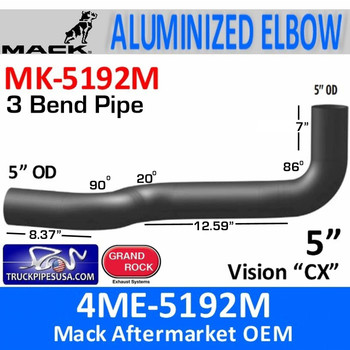 4ME-5192M Mack Vision CX Exhaust Elbow MK-5192M