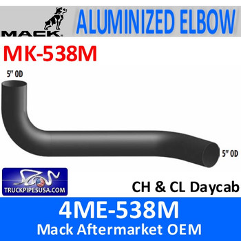 MK-538M 4ME-538M Mack CH & CL Daycab Exhaust Elbow MK-538M
