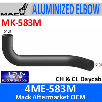 MK-583M 4ME-583M Mack CH & CL Daycab Exhaust Elbow MK-583M