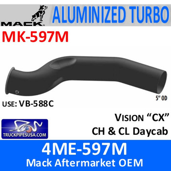 4ME-597M Mack Turbo Pipe with pyrometer MK-597M