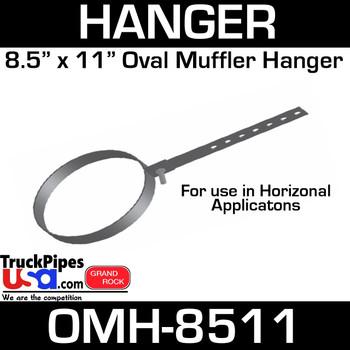 """8.5"""" x 11"""" Oval Muffler Exhaust Hanger OMH-8511"""