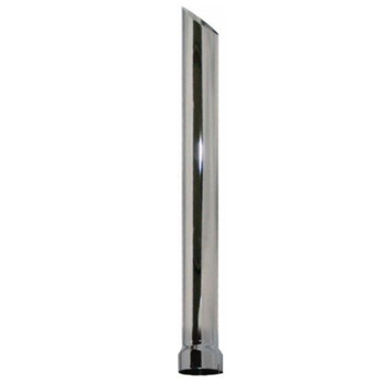 """6"""" x 120"""" Miter or Angle Cut Stack ID Chrome Exhaust Tip P6-120EXC"""