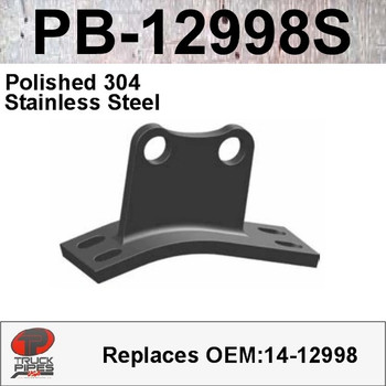 PB-12998S 14-12998 Peterbilt Polished 304 Stainless Steel Cab Bracket
