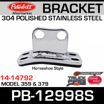 Peterbilt Polished 304 Stainless Steel Cab Bracket 14-14792