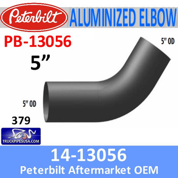 14 13056 Peterbilt 379 Exhaust Aluminized Elbow Pipe PB 13056 Pipe Exhaust 5 inch diameter truck pipes usa__13487.1505593429?c=2 peterbilt 379 dual exhaust system pipes diagram