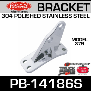 Polished SS Bracket for Peterbilt 379 PB-14186S & 14-14186