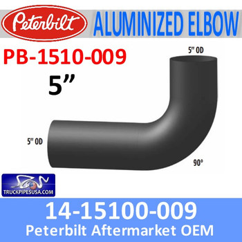PB-1510-009 14-1510-009 Peterbilt Exhaust 90 Degree Elbow PB-1510-009