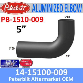 14-1510-009 Peterbilt Exhaust 90 Degree Elbow PB-1510-009