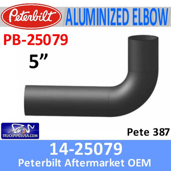 PB-25079 14-25079 Peterbilt 387 Aluminized Exhaust Elbow PB-25079
