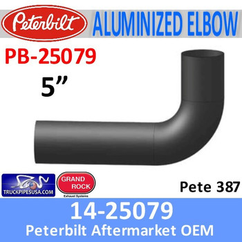 14-25079 Peterbilt 387 Aluminized Exhaust Elbow PB-25079