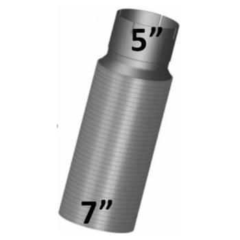 "7"" x 18"" Peterbilt Retro Stainless Steel Flex 7"" to 5"" PBF-718"
