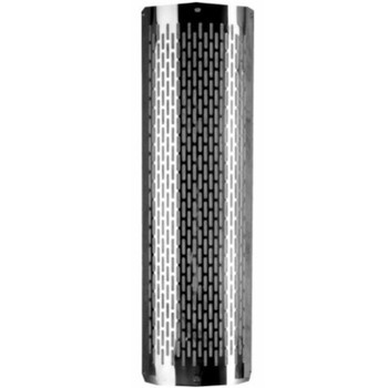 "4"" x 48"" Heat Shield Vertical Slots Polished SS with 2 brackets"