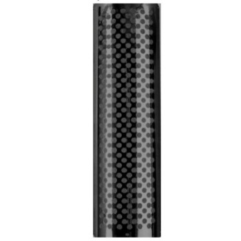 """6"""" x 48"""" Heat Shield Round Holes Polished SS with 2 brackets PG-648RS"""