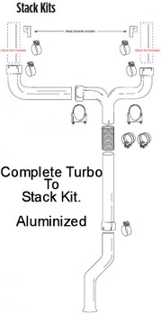 "PS-6.0-5SK 2003-2005 Ford 6.0L Powerstroke 5"" Dual Stack Kit"