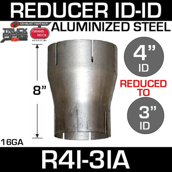 "R4I-3IA 4"" ID to 3"" ID Exhaust Reducer Aluminized Pipe"
