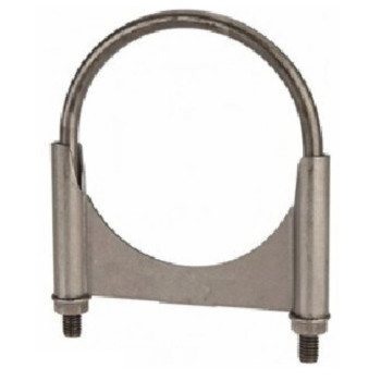 """3.5"""" Round Bolt Single Saddle Exhaust Clamp- Zinc Plated RB-35ZN"""
