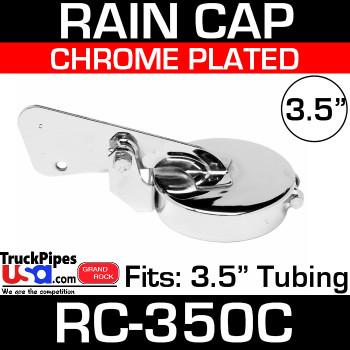 3.5 inch Chrome Plated Exhaust Rain Cap RC-350C
