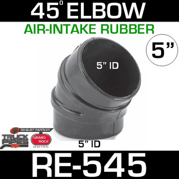 "5"" Air Intake Rubber 45 Degree Elbow RE-545"