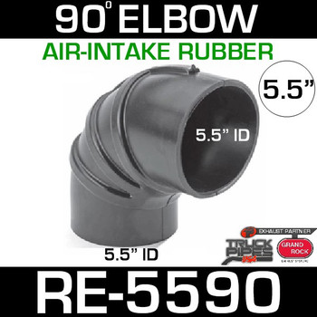"5.5"" Air Intake Rubber 90 Degree Elbow RE-5590"