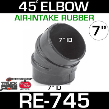"7"" Air Intake Rubber 45 Degree Elbow RE-745"