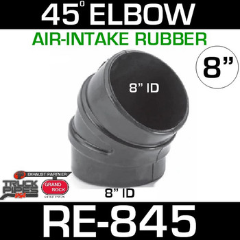 "8"" Air Intake Rubber 45 Degree Elbow RE-845"