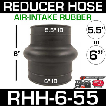 "6"" x 5.5"" Air Intake Exhaust Rubber Reducer Hose RHH-6-55"