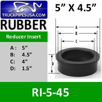 RI-5-45 RI-5-45 5 inch x 4.5 inch Intake Air Reducer Insert