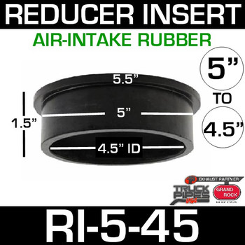 "5"" x 4.5"" Air-Intake Rubber Exhaust Reducer Insert RI-5-45"