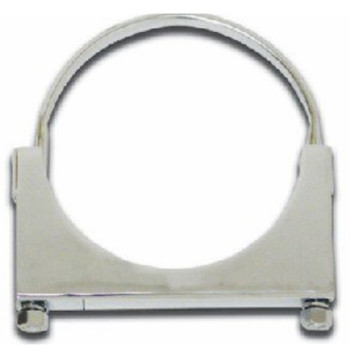 "4"" Round Bolt Open Saddle Exhaust Clamp RO-4P"