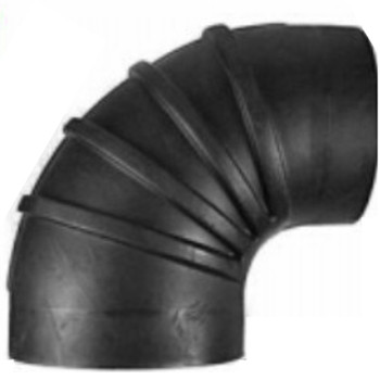 "6"" ID Reduced to 5.5"" ID 90 Degree Reducer Air Intake Rubber Elbow"