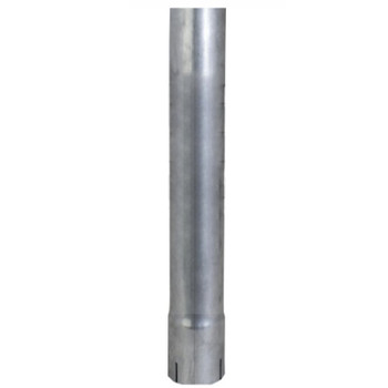 "3"" x 24"" Straight Cut Aluminized Exhaust Stack ID End S3-24EXA"