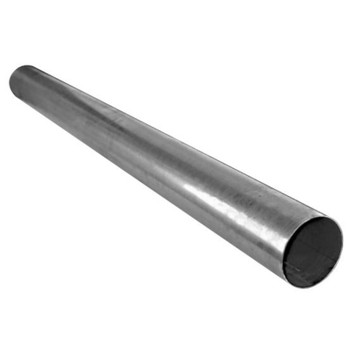 "4"" x 120"" Straight Cut Aluminized Exhaust Stack OD End S4-120SBA"