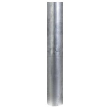 "5"" x 48"" Straight Cut Aluminized Exhaust Stack OD End S5-48SBA"