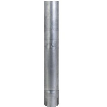 "5"" x 60"" Straight Cut Aluminized Exhaust Stack ID End S5-60EXA"