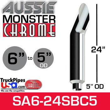 """6"""" x 24"""" Aussie Chrome Monster Stack Reduced to 5"""" OD"""