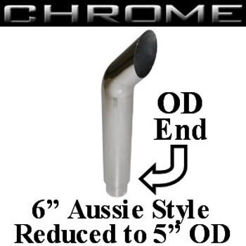 "6"" x 60"" Aussie Stack Reduced to 5"" OD Chrome (SA6-60SBC)"