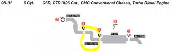 SB3-8773BB Chevrolet C6D C7D 3126 Cat S Pipe