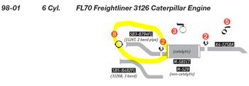 SB3-8794FL FL70 Freightliner 3126 Caterpillar Engine