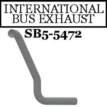 "SB5-5472IH International Bus Pipe 3 Bend 3.5"" OD Flared End ALZ"